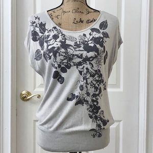 H & M floral sleeveless sweater